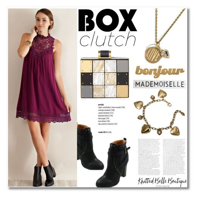 """""""Pretty Box Clutches"""" by knittedbelleboutique ❤ liked on Polyvore featuring ShoeMaiden, Entro, Sweet Romance, Halston Heritage, Rosanna, Slippin' Southern, women's clothing, women's fashion, women and female"""