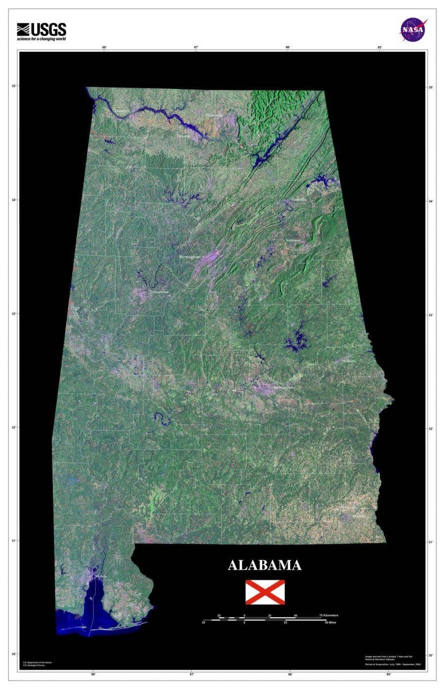 alabama satellite poster map martin state map map wall art rh pinterest com