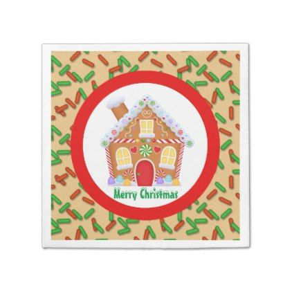 #Christmas gingerbread house add text napkins - #Xmas #ChristmasEve Christmas Eve #Christmas #merry #xmas #family #kids #gifts #holidays #Santa