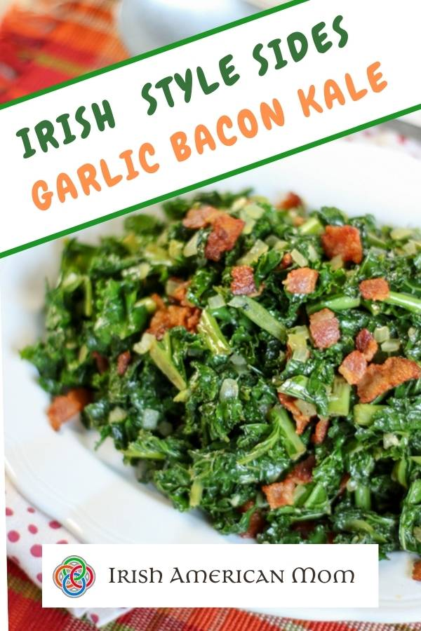 Kale Sauteed With Bacon And Garlic Irish American Mom Recipe Bacon Kale Bacon Kale