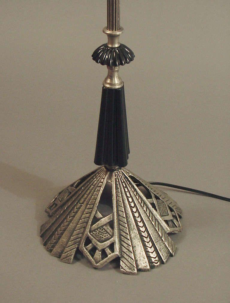 Art Deco Floor Bridge Lamp With Black Glass Elements Art Deco Accessories Vintage Floor Lamp Antique Lamps