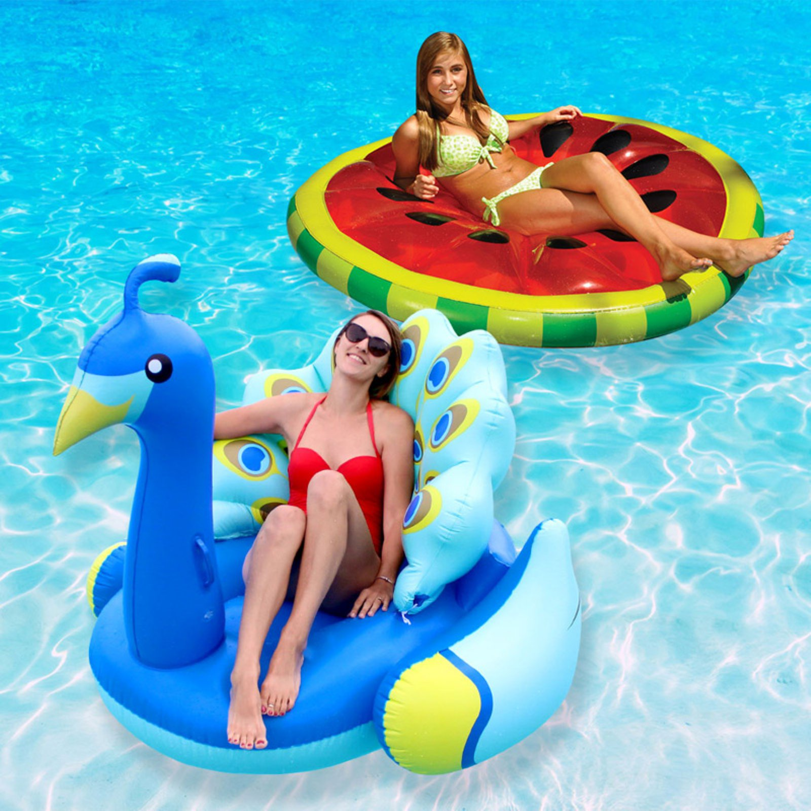 swimline watermelon slice and peacock extra large swimming pool rh pinterest com