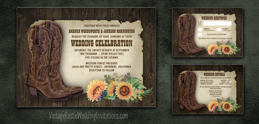 Sunflower Western Wedding Invitations Www Imagenesmi Com