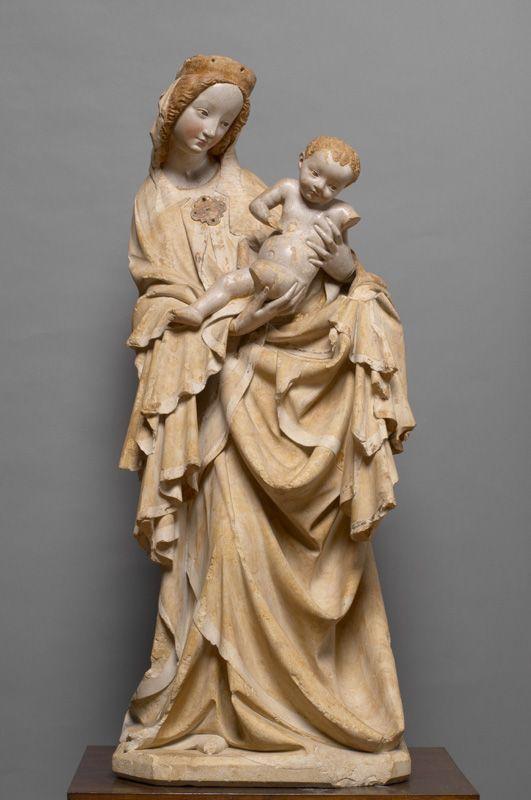 Krumauer Madonna. Kunsthistorisches Museum Wien, um 1400. Meister der...