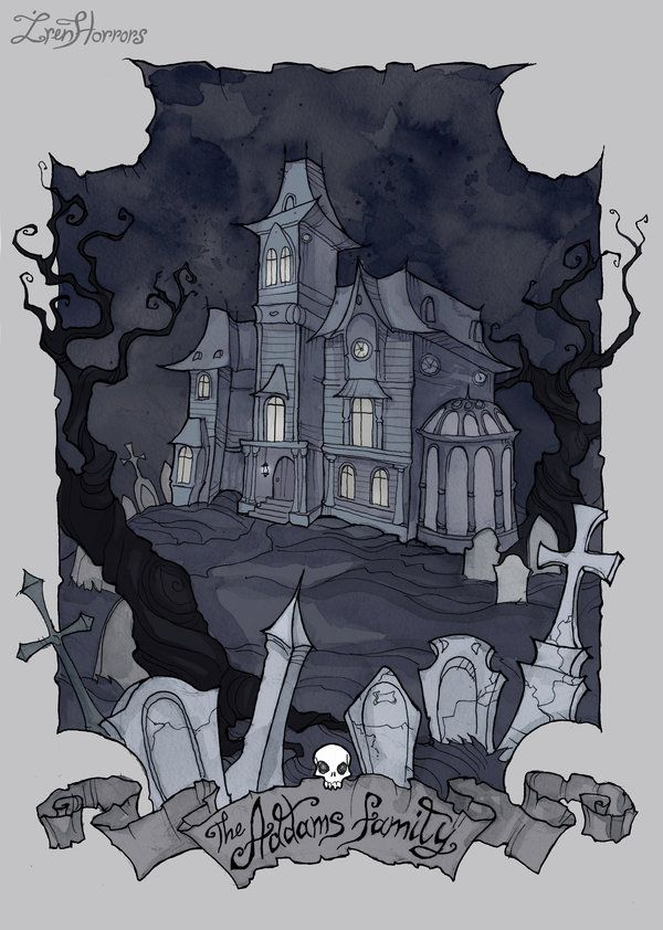 the addams family mansion by irenhorrors haunted house cemetary rh br pinterest com