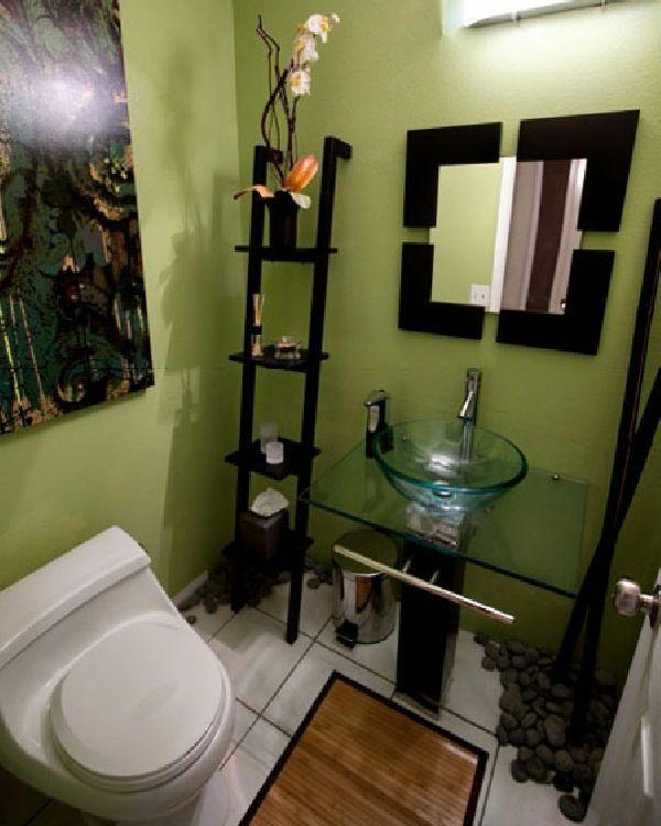 badezimmer-kreativ-gestalten- treppe dekorativ - 30 super Ideen - ideen badezimmergestaltung
