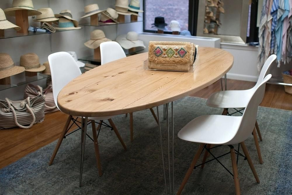 reclaimed white pine oval dining table grain