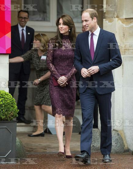 Chinese President Xi Jinping State Visit to London, Britain - 21 Oct 2015 Catherine Duchess of Cambridge and Prince William as they attend Creative Collaborations event at Lancaster House 21 Oct 2015