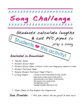 song challenge fun activity with the physics of sound science rh pinterest com