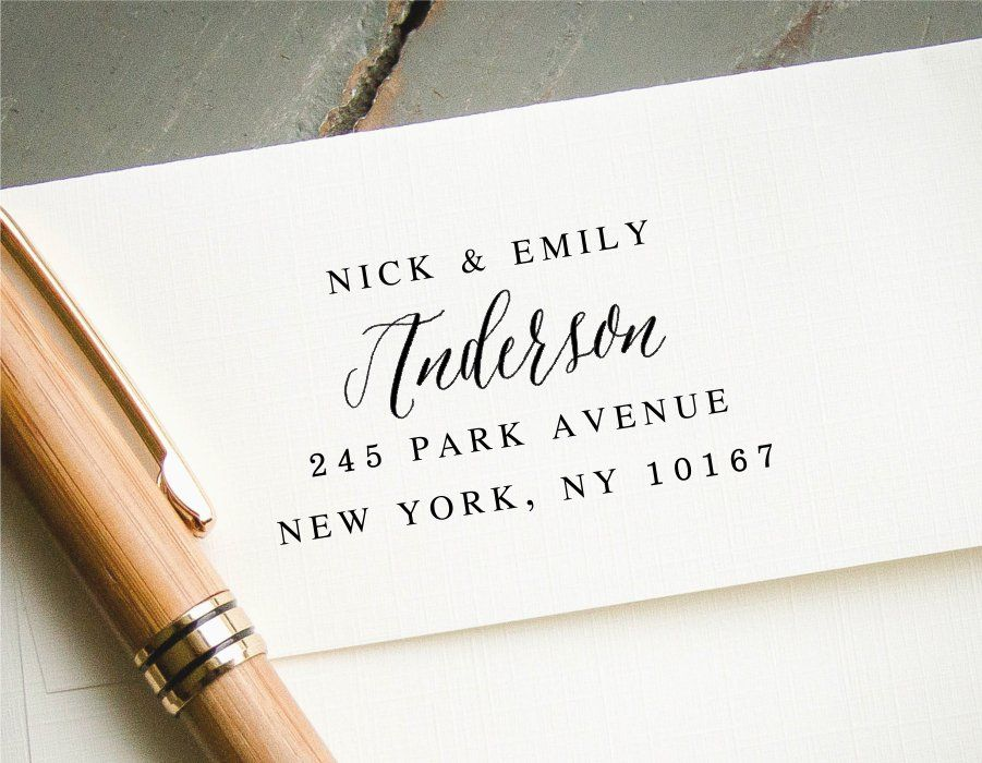 invitation wedding wording gifts%0A Self Inking Address Stamp  Custom Return Address Stamp  Hand Calligraphy  Font  Wedding Invitation Stamp  RSVP Stamp  Engagement Gift