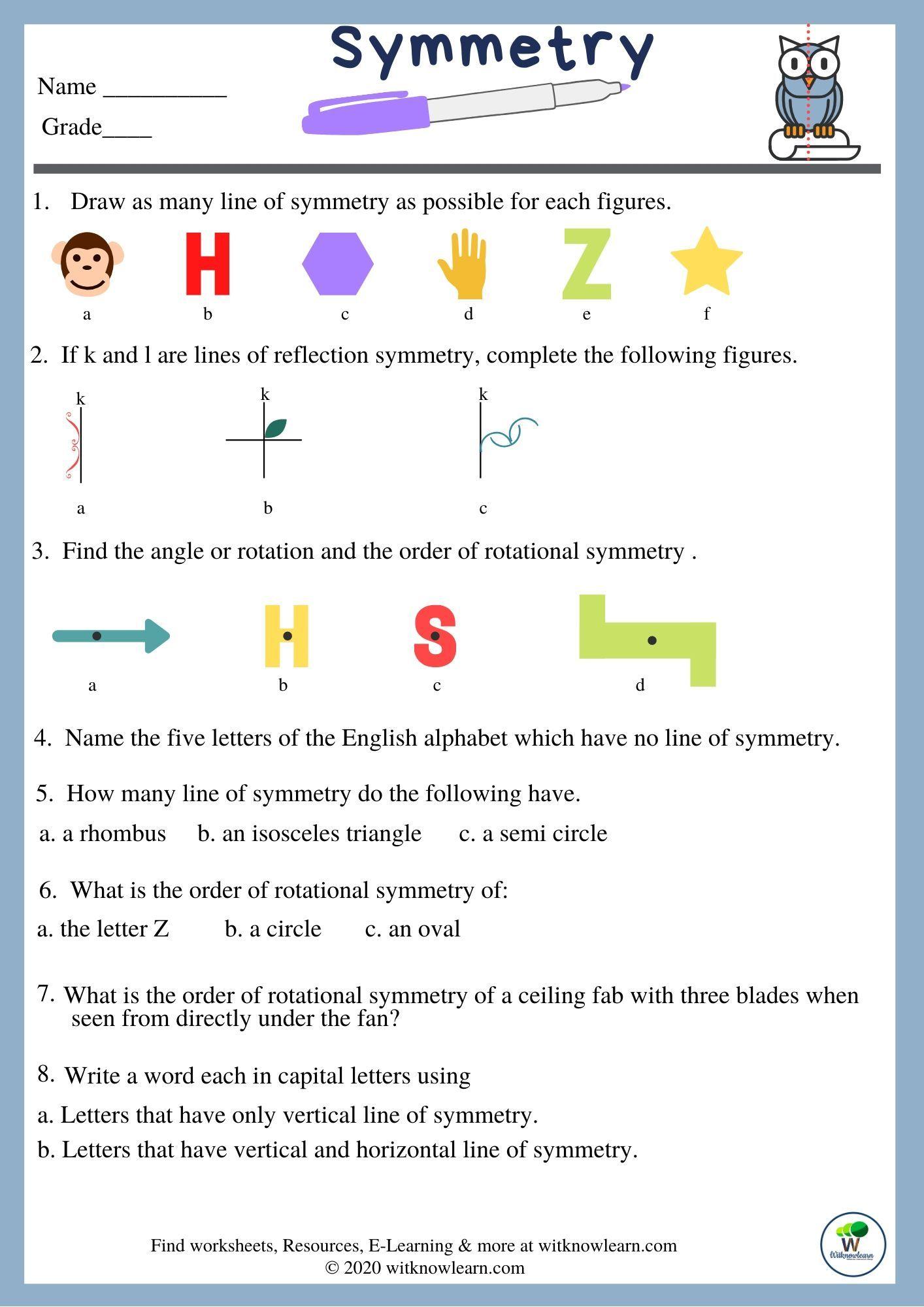 medium resolution of symmetry worksheets for kids   Symmetry worksheets