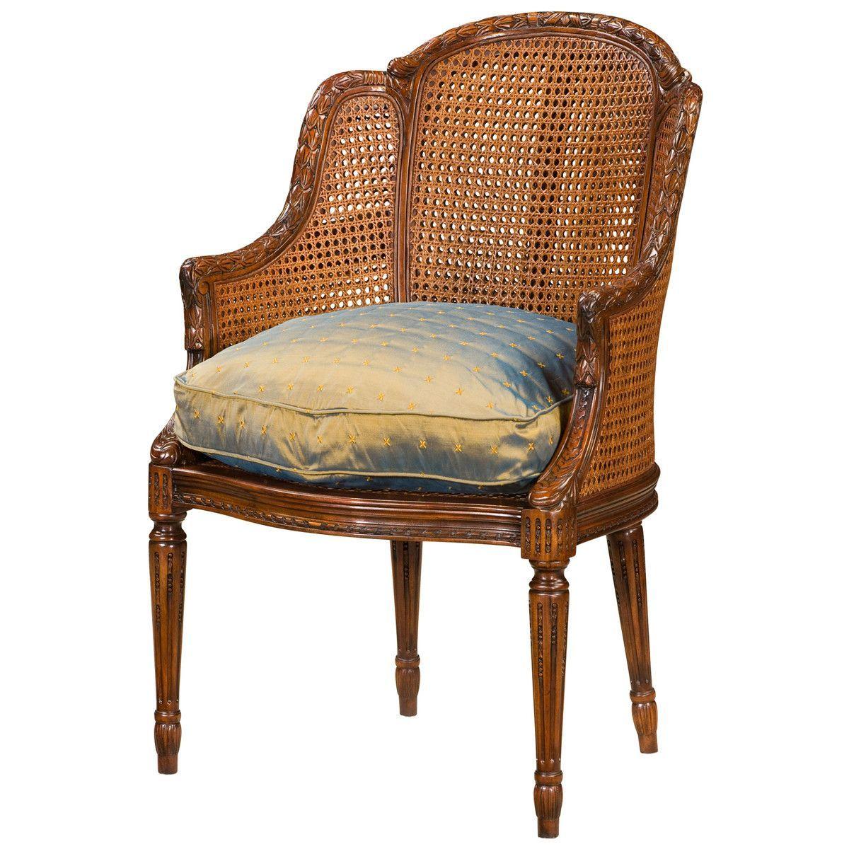 Theodore Alexander Essential Ta Louis Bergère Dining Chair Set Of 2
