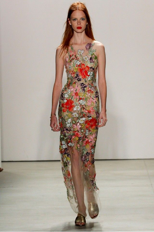 Jenny Packham Elevates Punk Rock for Spring 2016 via @WhoWhatWear
