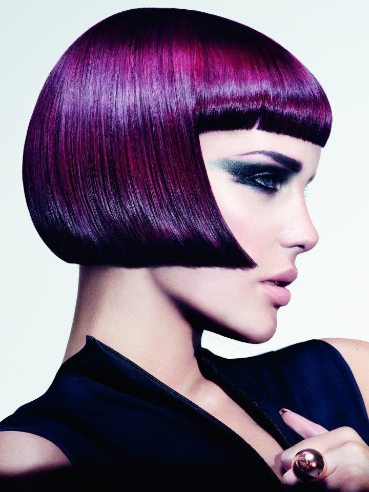 Purple Hair by Emiliano Vitale at é Salon, Wahroonga, Australia  Colour: Lisa Muscat and Emiliano Vitale  Make-up: Clare Read  Styling: Sonny Groo  Photographs: Paul Scala