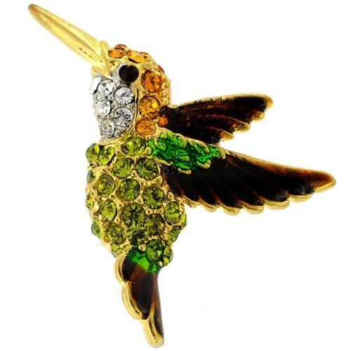 Women/'s Lovely Crystal Enamel Birds Lapel Brooch Pin Fashion Jewelry Gifts