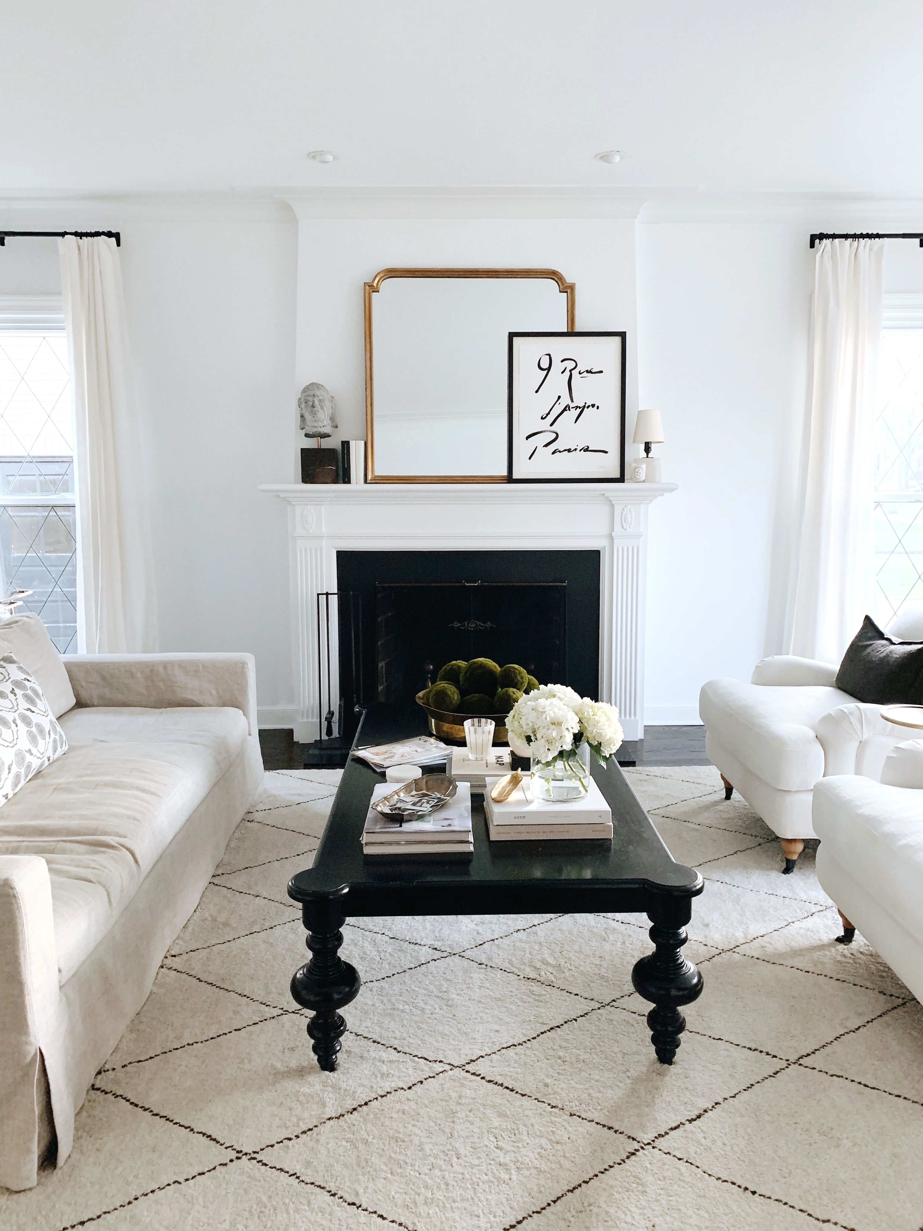 House Updates The Living Room And Sunroom Danielle Moss White