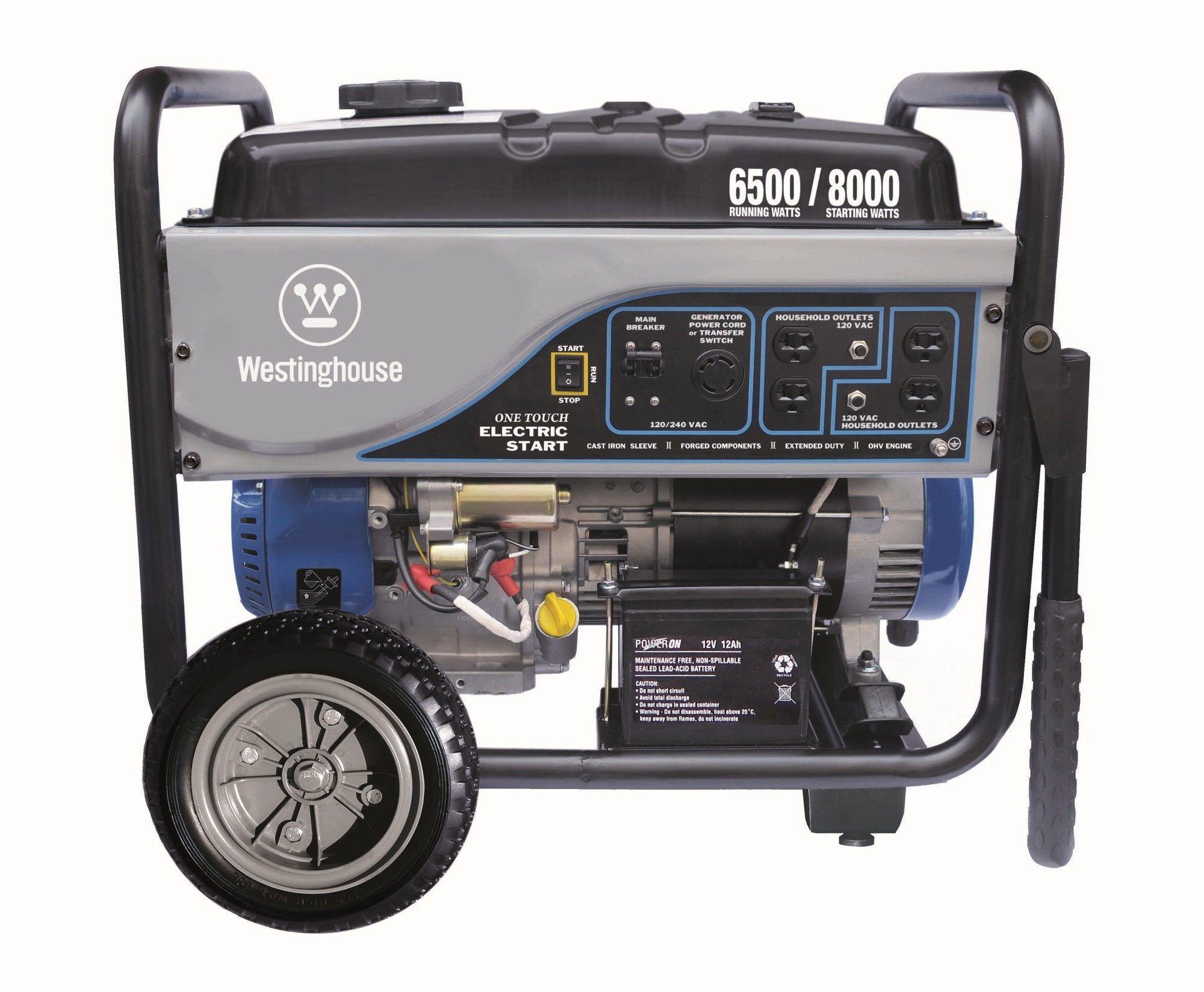 6,500 Watt Generator with Electric Start Vías