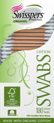 Swisspers Organic Cotton Swabs On Wood Sticks 180 Count By Swisspers 3 09 Quality Certification Services Certified Cotton Swabs Organic Cotton Cotton Buds