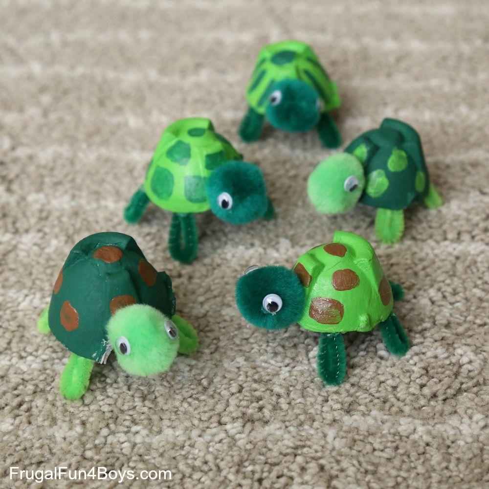 Egg Carton Turtle Craft Adorable Egg Carton