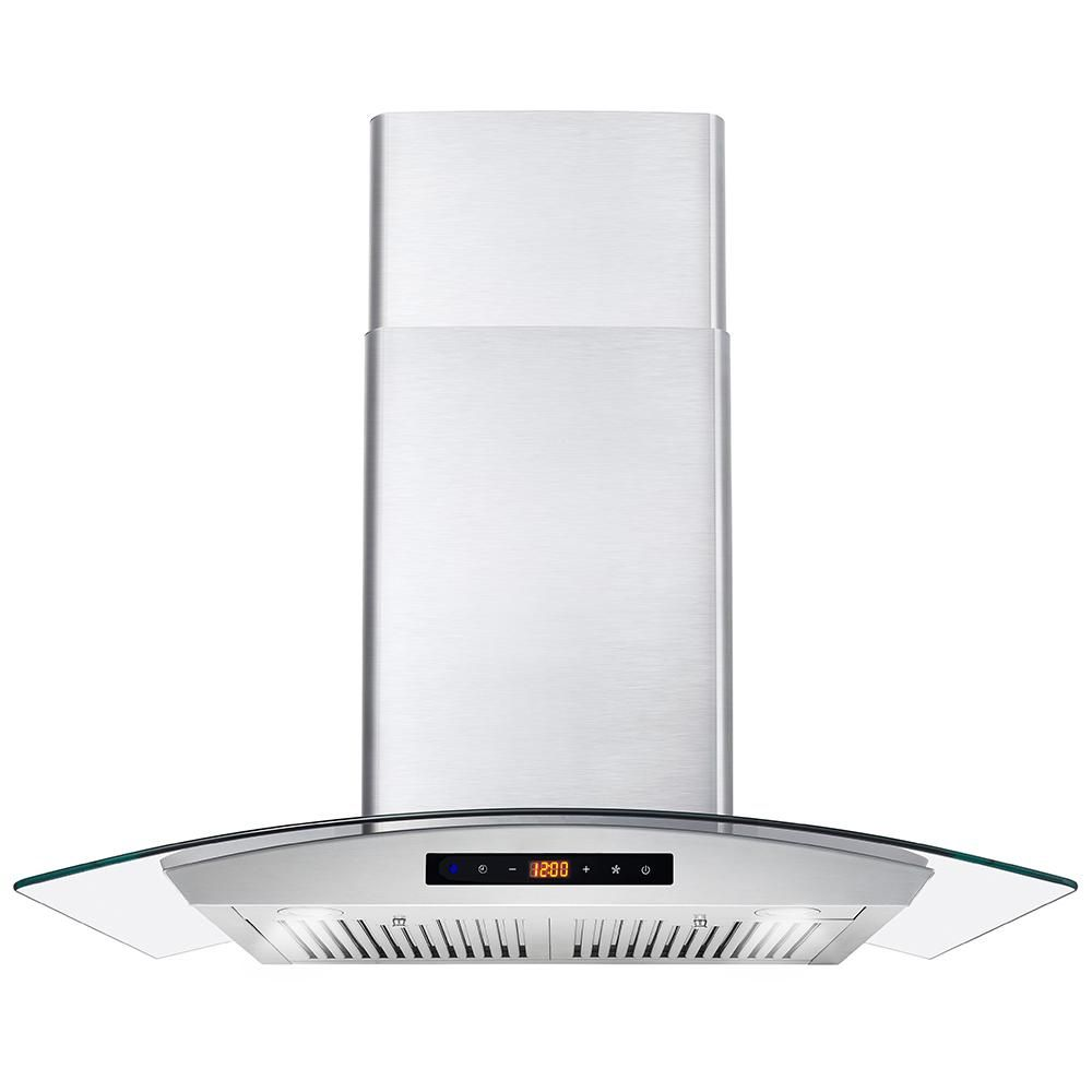 Cosmo 30 In Ducted Wall Mount Range Hood In Stainless Steel With Touch Controls Led Lighting And Permanent Filter In 2020 Wall Mount Range Hood Range Hood Steel Wall