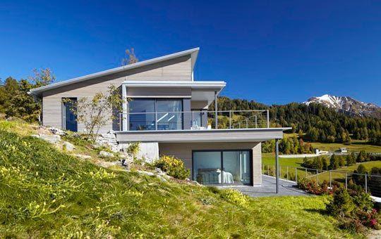 fertighaus hanglage renggli ag steep land homes haus. Black Bedroom Furniture Sets. Home Design Ideas