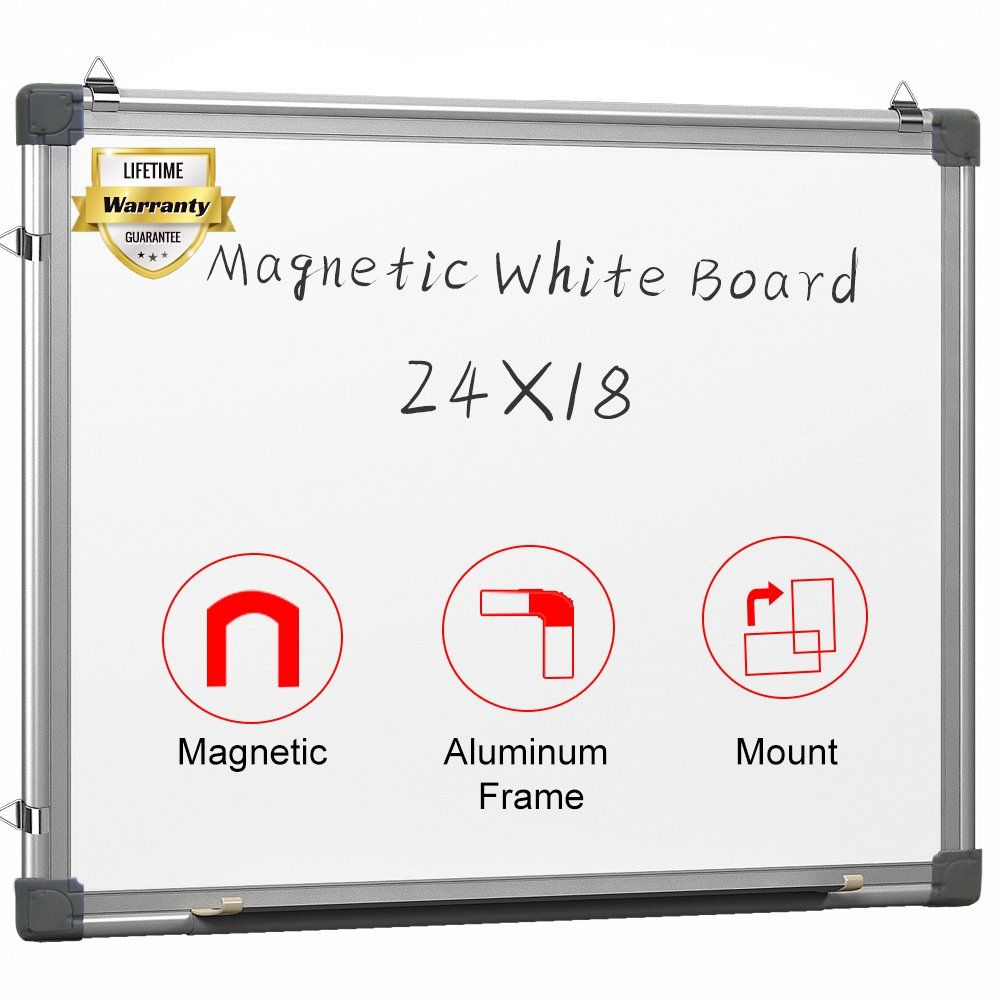 Amazon Com Maxtek Magnetic White Board 24 X 18 Dry Erase Board Wall Hanging Whiteboard Home Kitchen Dry Erase Board Wall Magnetic White Board Wall Board