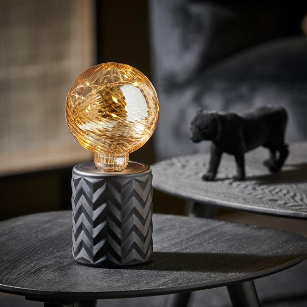 EDEN Deco lamp zwart H 21 cm; Ø 10 cm in 2020 | Zwart