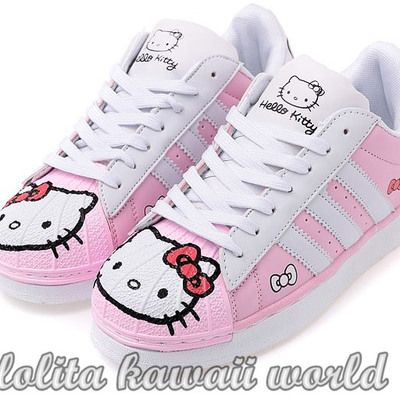 0b393df9f Lolita kawaii hello kitty shoes sport shoes lk16071126   kawaii ...