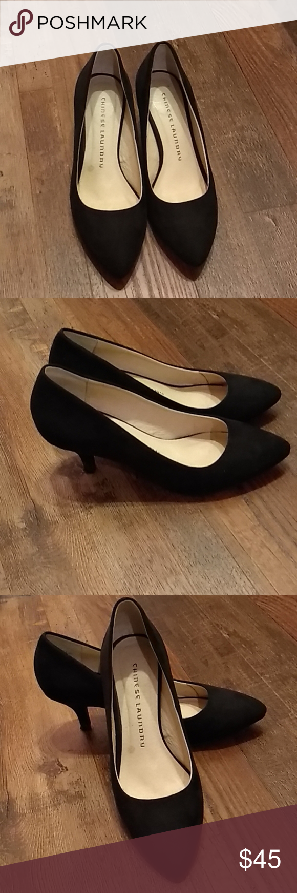 Chinese Laundry Heels Ladies Size 6 Chinese Laundry Black Low