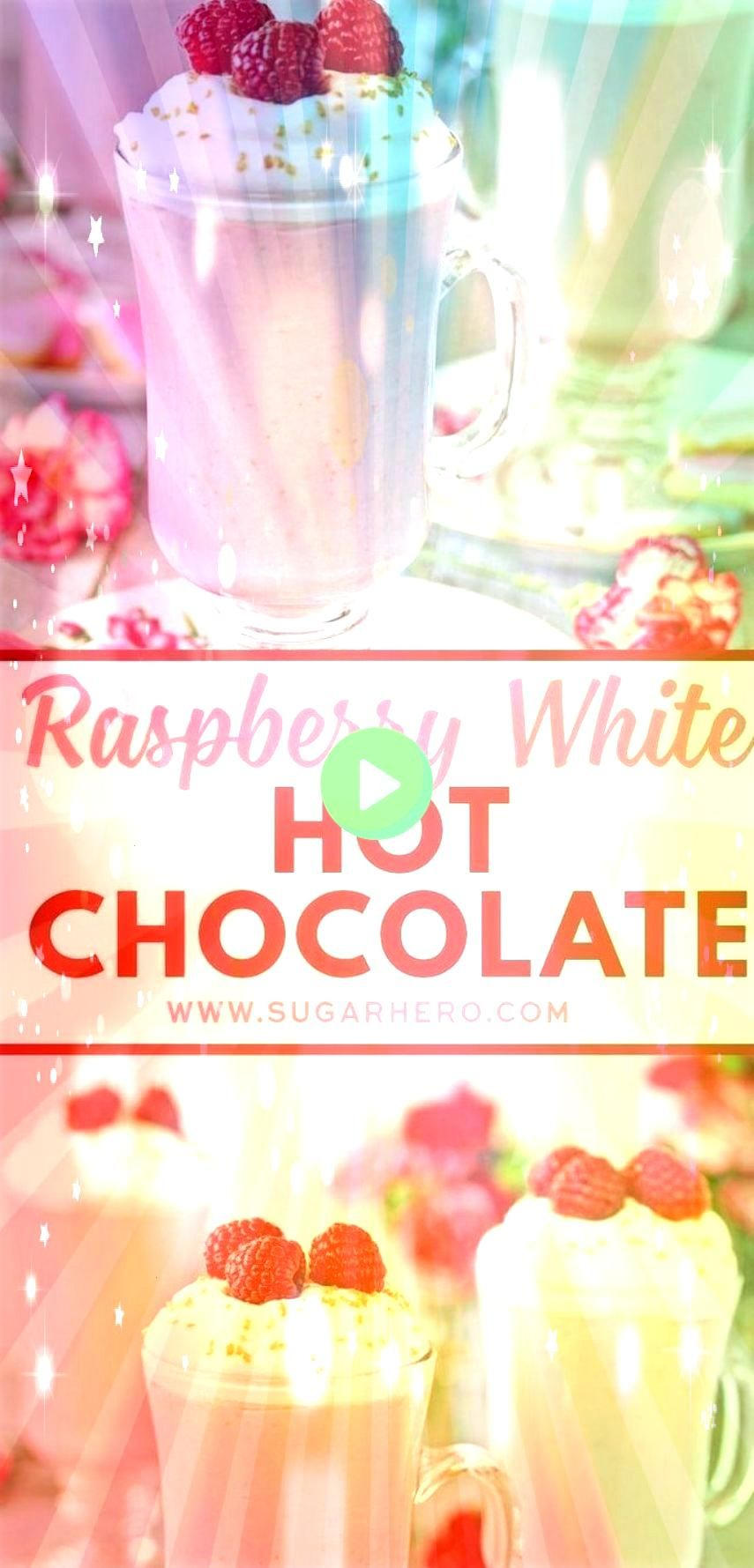 Hot Chocolate is a pretty pink twist on traditional hot chocolate Its made with white chocolate and real raspberry puree for a fresh fruity taste that is perfect yearroun...