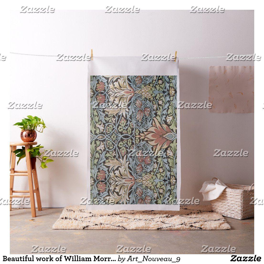 Beautiful work of William Morris,Art Nouveau,Beaut Fabric