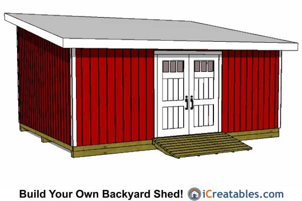 how to build a lean to shed plans