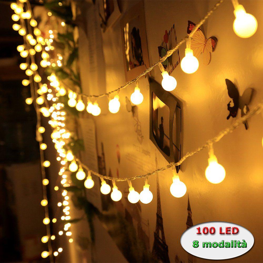 Catena Luminosa Per Foto catena luminosa a batteria 3*aa bianco caldo luce fissa e