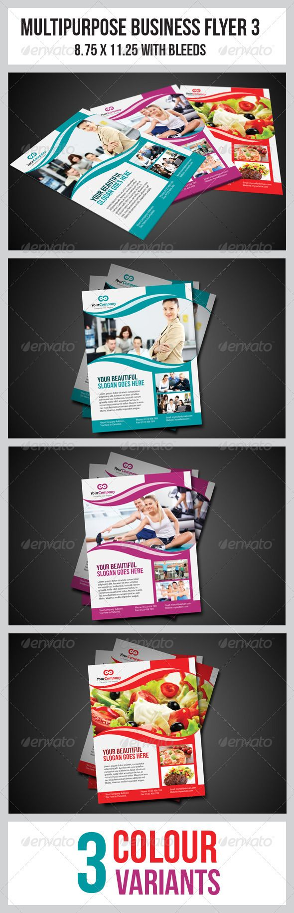 Multipurpose Business Flyer 3 | More Business flyers, Flyer ...