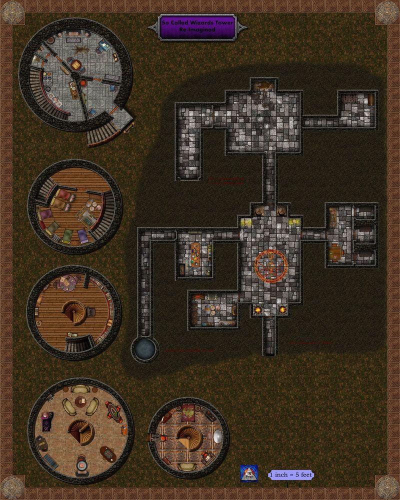 socalled wizards tower by bogie dj d effin d fantasy map rh pinterest com