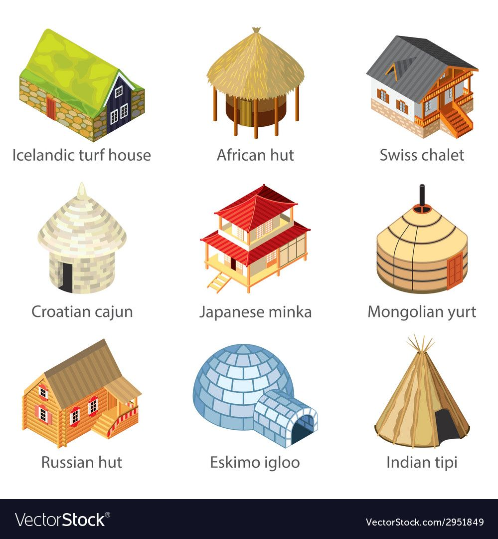 Houses of nations vector image on