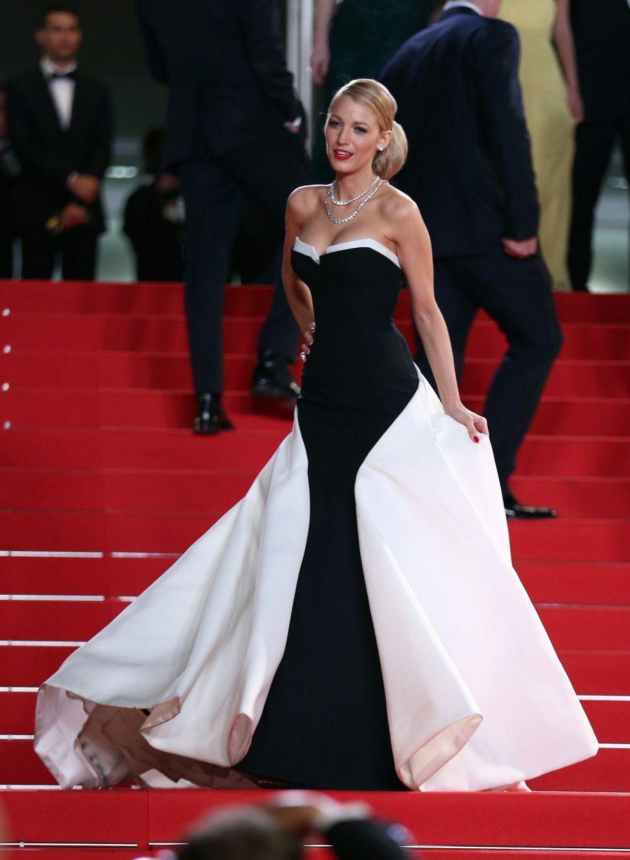 Blake Lively Floor Length Black Dress