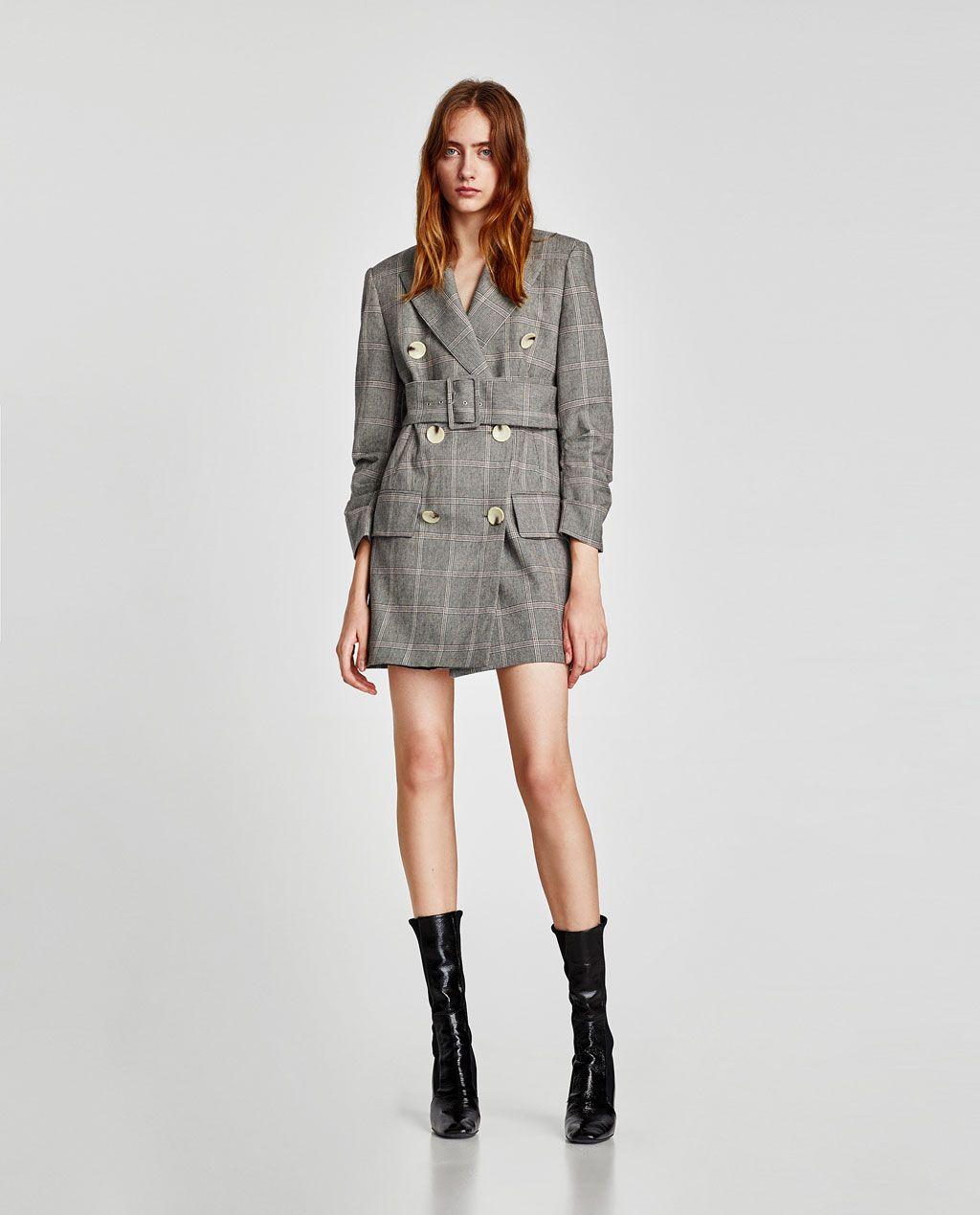 vestido tipo chaqueta zara