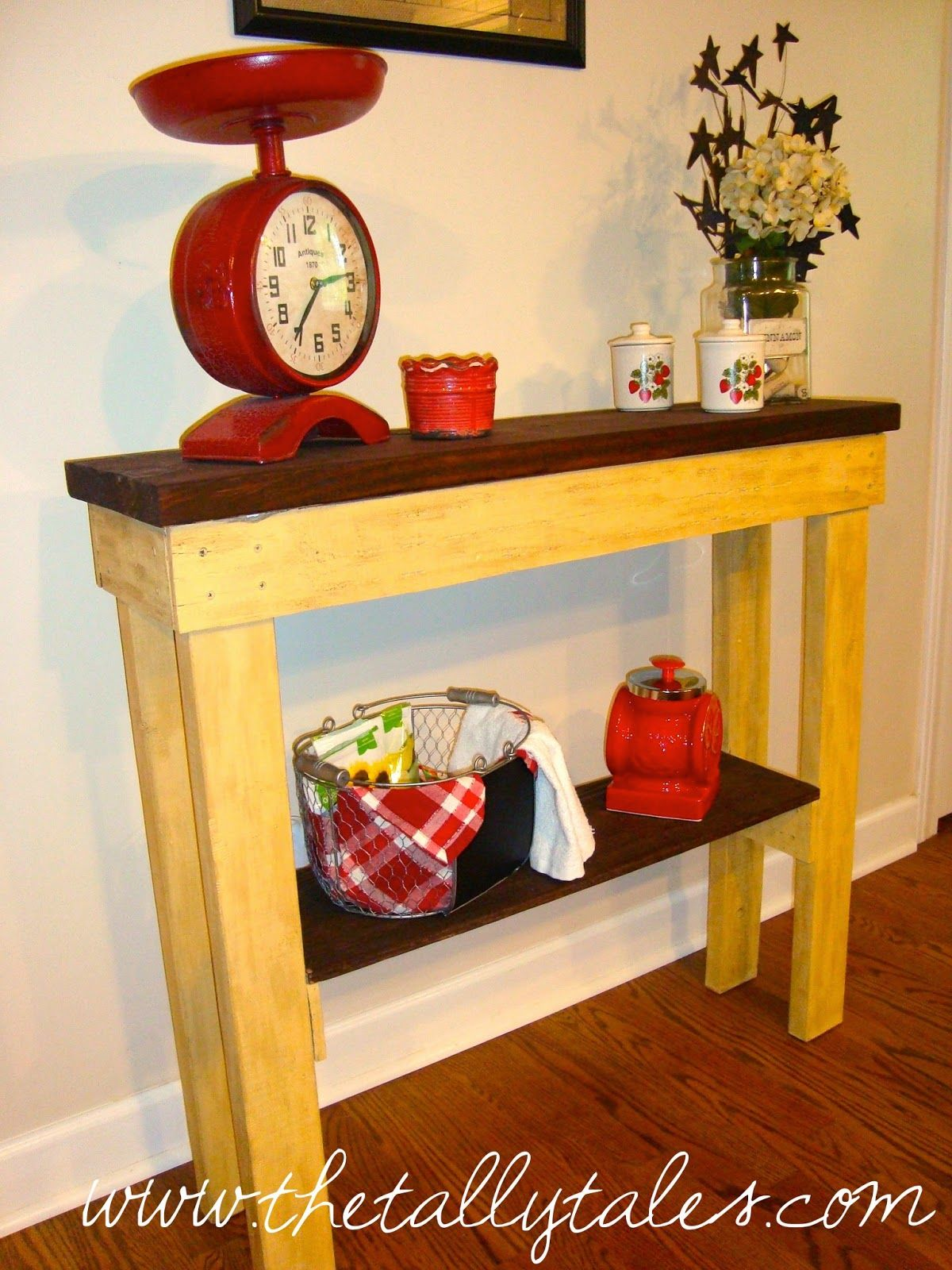 DIY: Slender Accent Table | Accent table, Cool furniture ...