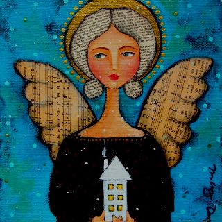 Angel folk art