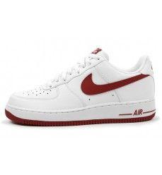 images détaillées 79d9b 6d715 Chaussures Nike Air Force 1 Low (Basse) Homme Blanc / Rouge ...