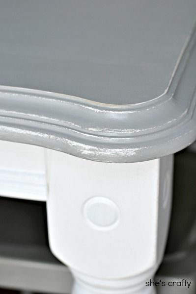she s crafty grey and white painted kitchen table how to rh pinterest com