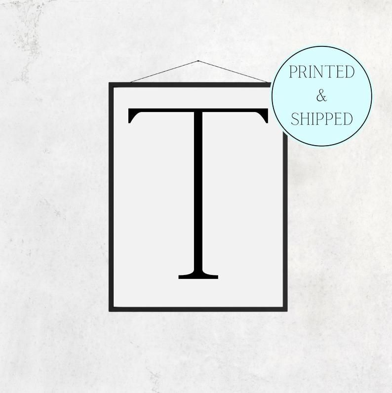 T Print Letter T Print Alphabet Print Letter Print Simple   Etsy