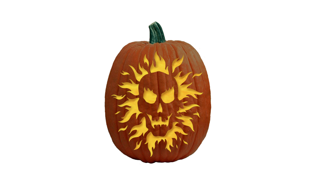 An Old Flame - Pumpkin Carving Pattern   Pumpkin carving ...