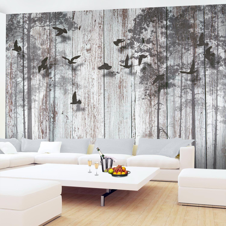 Fototapete Abstrakt Holzoptik Vlies Wand Tapete Wohnzimmer