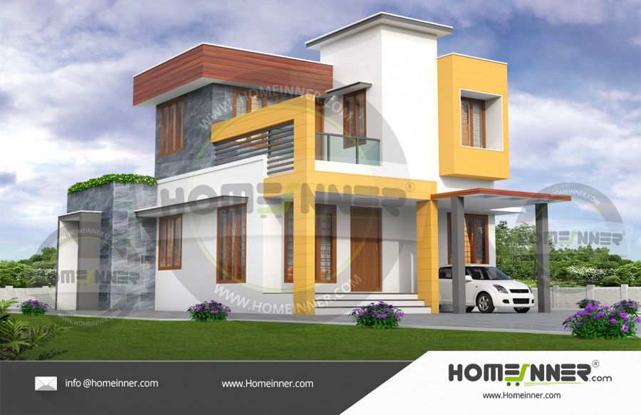 1550 Sq ft 3BHK Simple Home Elevation