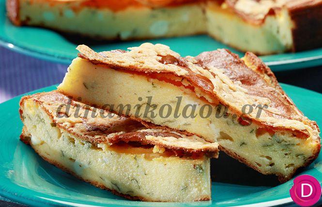 Τυρόπιτα με πολέντα χωρίς φύλλο | Dina Nikolaou
