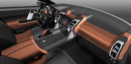 2017 citroen c5 aircross source sketches car interior sketch rh pinterest com