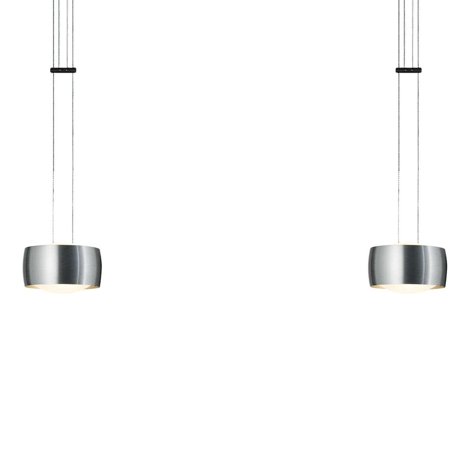 Oligo Grace Suspension Led A 2 Lampes Alu In 2020 Hangeleuchte Led Hangeleuchte Led Hangelampen