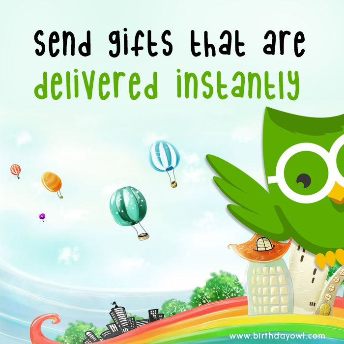 Need A Last Minute Gift Birthdayowl Helps You To Find Online Gifts Which Send Digital